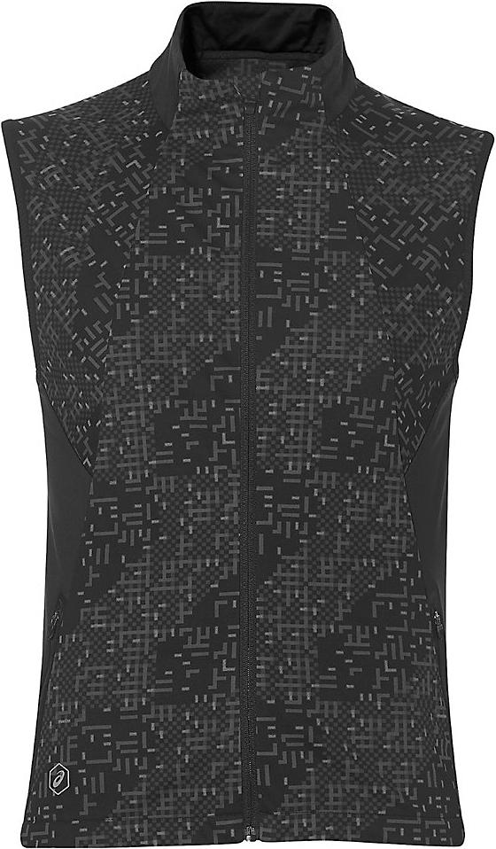 Жилет мужской Asics Lite-Show Vest, цвет: черный. 146587-1179. Размер L (50/52)146587-1179Жилет от Asics выполнен в популярном среди бегунов стиле и просто необходим во время тренировок на улице. В качестве отделки используется светоотражающий логотип и другие элементы. С этой моделью во время утренней или вечерней пробежки вы гарантированно будете замечены.