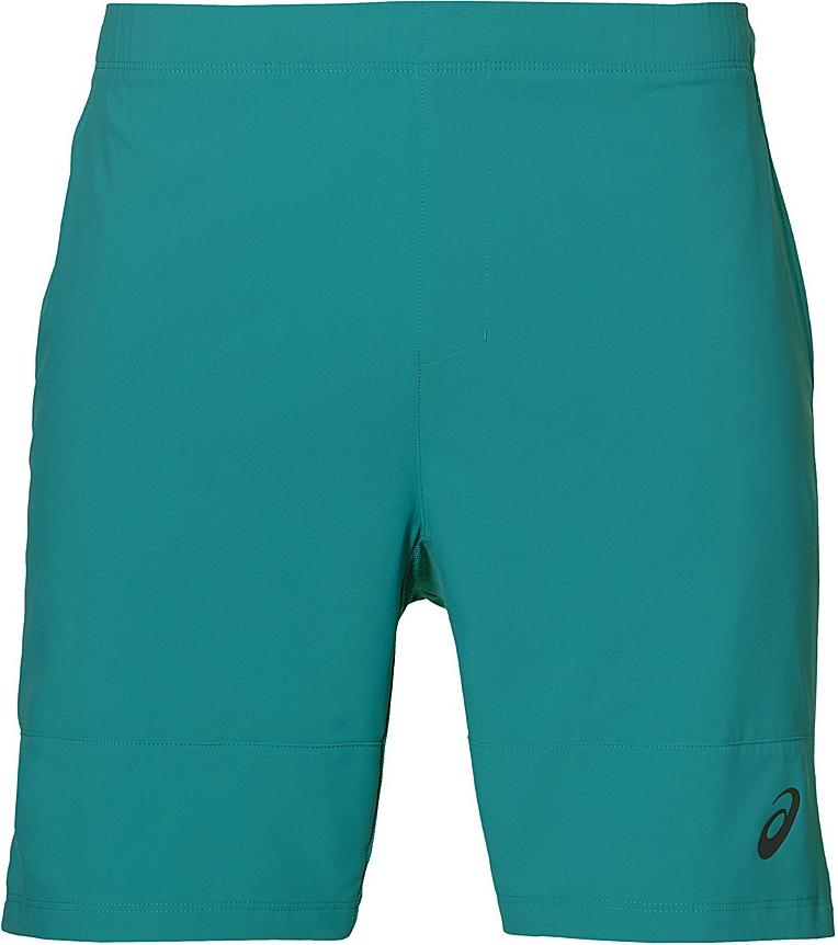 Шорты для тенниса мужские Asics M Club Short 7in, цвет: бирюзовый. 141147-4013. Размер L (50/52)141147-4013Мужские шорты для тенниса Asics M Club Short 7in - это незаменимый атрибут в гардеробе любого спортсмена. Стильные удобные шорты выполнены из высококачественного полиэстера, благодаря чему превосходно сидят, не стесняют движений и великолепно отводят влагу, оставляя тело сухим даже во время интенсивных тренировок. Модель дополнена широкой эластичной резинкой на талии. Шорты имеют два втачных кармана спереди. Модель оформлена логотипом.