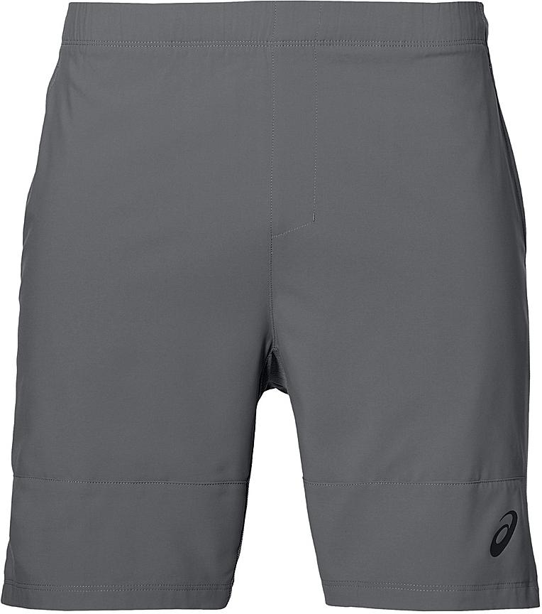 Шорты для тенниса мужские Asics M Club Short 7in, цвет: серый. 141147-0720. Размер L (50/52)141147-0720Мужские шорты для тенниса Asics M Club Short 7in - это незаменимый атрибут в гардеробе любого спортсмена. Стильные удобные шорты выполнены из высококачественного полиэстера, благодаря чему превосходно сидят, не стесняют движений и великолепно отводят влагу, оставляя тело сухим даже во время интенсивных тренировок. Модель дополнена широкой эластичной резинкой на талии. Шорты имеют два втачных кармана спереди. Модель оформлена логотипом.
