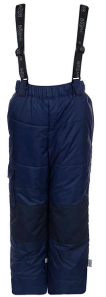 Брюки утепленные для мальчика Boom!, цвет: синий. 70496_BOB_вар.2. Размер 152, 11-12 лет70496_BOB_вар.2Утепленные брюки от Boom! выполнены из плотной водонепроницаемой ткани. Модель со съемными лямками, регулируемыми по длине и манжетами-отворотами. Незаменимый элемент зимнего гардероба!