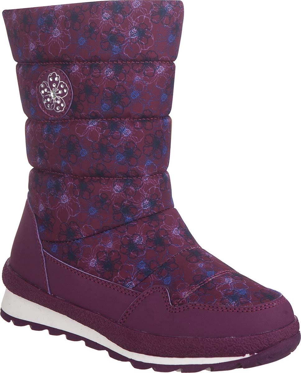 Сапоги для девочки Kapika, цвет: фиолетовый. 843д-1. Размер 31843д-1