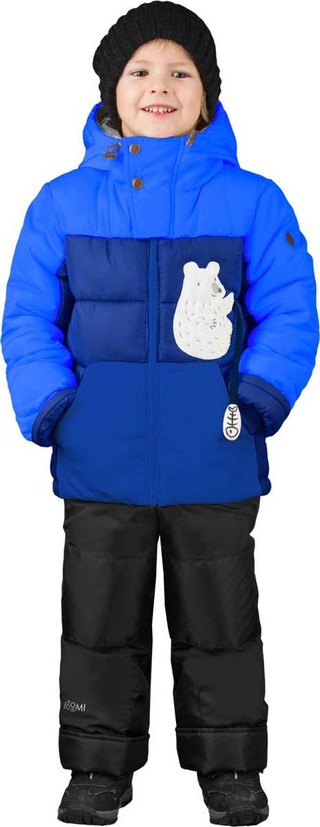 Комплект для мальчика Boom!: куртка, брюки, цвет: темно-синий. 70487_BOB_вар.2. Размер 116, 5-6 лет70487_BOB_вар.2Теплый комплект для мальчика Boom! идеально подойдет вашему сыну в холодное время года. Комплект состоит из куртки и брюк, изготовленных из водонепроницаемого и ветрозащитного материала с утеплителем из синтепона. Куртка на мягкой флисовой подкладке застегивается на пластиковую застежку-молнию. Курточка дополнена несъемным капюшоном. Низ рукавов дополнен внутренними трикотажными манжетами, которые мягко обхватывают запястья.Брюки застегиваются на застежку-молнию.Комфортный, удобный и практичный комплект идеально подойдет для прогулок и игр на свежем воздухе!