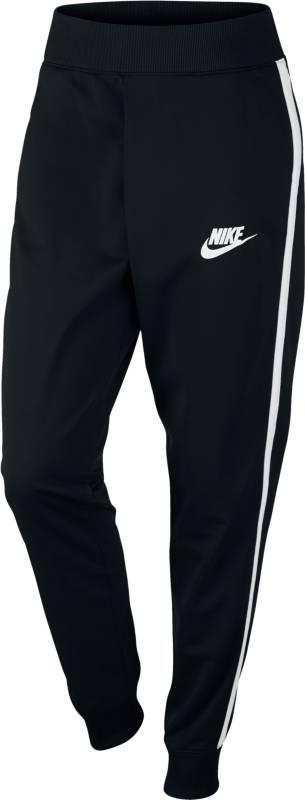 Брюки спортивные женские Nike W Nsw Trk Pant Pk Cf, цвет: черный. 850452-010. Размер L (48/50)850452-010Женские спортивные брюки Nike Sportswear Track Pants выполнены из мягкой и комфортной смесовой ткани. Модель с поясом и отворотами обеспечивает плотную посадку и свободу движений, не закрывая кроссовки. Брючины дополнены манжетами.