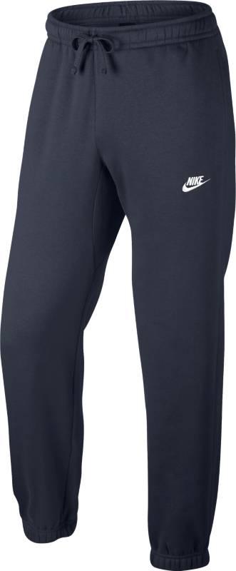 Брюки спортивные мужские Nike Sportswear Pant, цвет: темно-синий. 804406-451. Размер S (44/46)804406-451Мужские брюки Nike Sportswear обеспечивают абсолютный комфорт без утяжеления. Эта модель выполнена из мягкой флисовой ткани с обновленным узким поясом и отворотами для аккуратного вида. Флисовая ткань с начесом по изнаночной стороне для дополнительной мягкости.