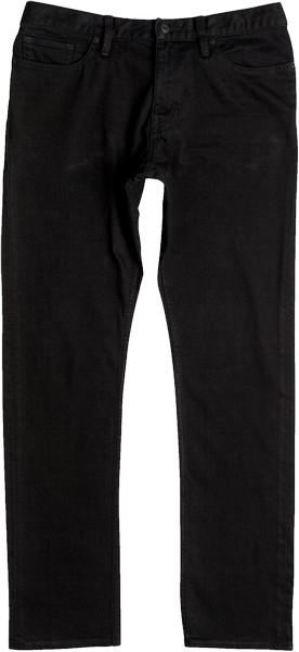 Брюки мужские DC Shoes Worker, цвет: черный, темно-серый. EDYDP03337-KVJW. Размер 34 (50)EDYDP03337-KVJWСтильные брюки от DC Shoes выполнены из эластичного хлопка. Модель имеет классический пятикарманный крой: спереди – два втачных кармана и один маленький кармашек, сзади – два накладных кармана. Брюки прямого кроя и стандартной посадки в поясе застегиваются на пуговицу, имеются ширинка на молнии и шлевки для ремня.