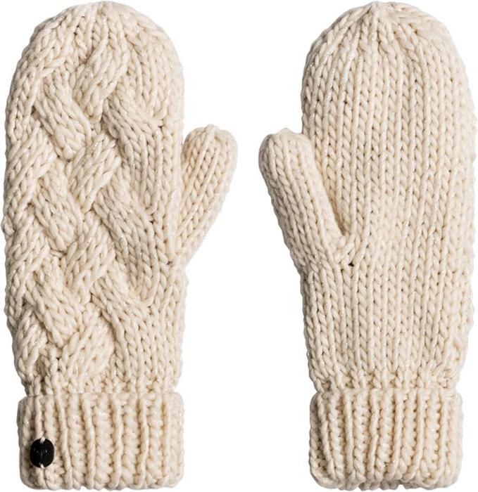 Варежки женские Roxy, цвет: светло-бежевый. ERJHN03074-TEE0. Размер универсальныйERJHN03074-TEE0Теплые вязаные варежки Roxy не только защитят ваши руки от холода, но и станут великолепным украшением. Варежки, выполненные из акрила с добавлением полиэстера, сохраняют тепло, мягкие, идеально сидят на руке. Манжеты оформлены широкими отворотами, связанными резинкой. Такие варежки составят идеальный комплект с модной верхней одеждой, в них вам будет уютно и тепло!