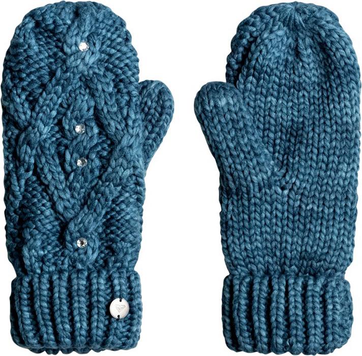 Варежки жен Roxy, цвет: морская волна, синий. ERJHN03075-BSF0. Размер универсальныйERJHN03075-BSF0