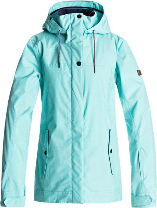 Куртка жен Roxy, цвет: бирюзовый. ERJTJ03121-BFK0. Размер S (42)ERJTJ03121-BFK0