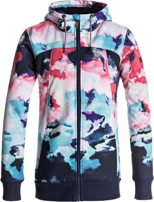 Куртка жен Roxy, цвет: темно-синий, розовый, лазурный. ERJFT03554-NKN6. Размер S (42)ERJFT03554-NKN6
