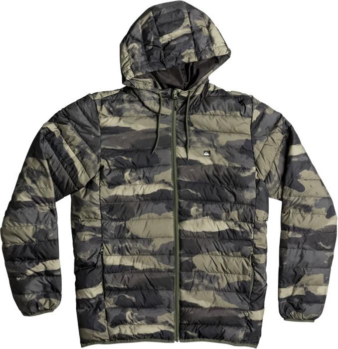 Куртка муж Quiksilver, цвет: антрацитовый, серый, оливковый. EQYJK03234-GPH6. Размер XXL (54)EQYJK03234-GPH6Мужская куртка Quiksilver Everydayscaly M Jckt выполнена из 100% полиэстера с синтепоновым утеплителем. Модель с воротником-стойкой и несъемным капюшоном застегивается на молнию спереди. Капюшон дополнен утягивающим шнурком. Спереди куртка дополнена двумя врезными карманами на молниях.