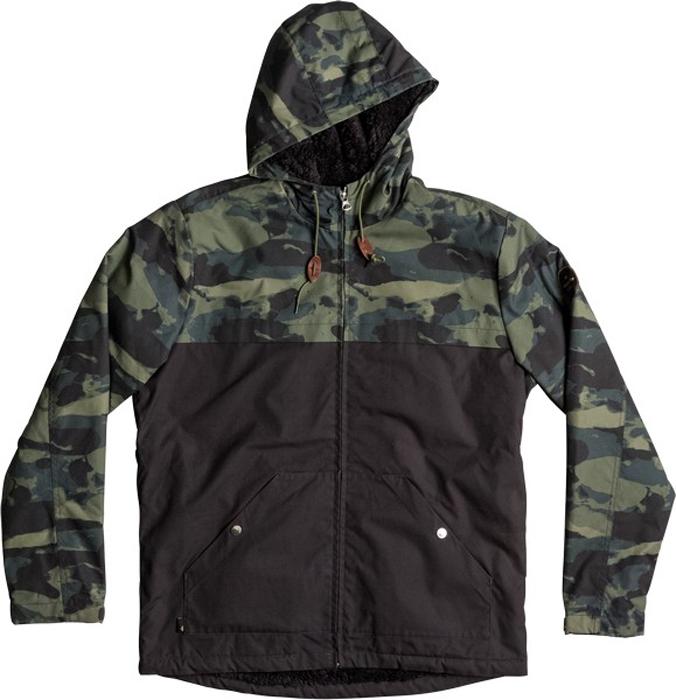Куртка муж Quiksilver, цвет: антрацитовый, серый, оливковый. EQYJK03361-GPH6. Размер XL (52)EQYJK03361-GPH6