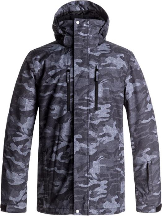 Куртка муж Quiksilver, цвет: антрацитовый, серый, светло-серый. EQYTJ03128-KVJ9. Размер XXL (54)