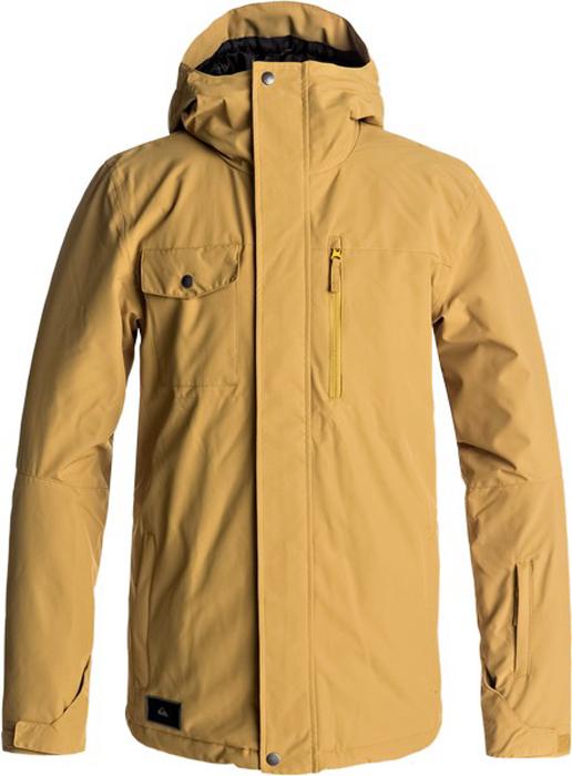 Куртка муж Quiksilver, цвет: золотистый, светло-бежевый, черный. EQYTJ03129-YLM0. Размер M (48)EQYTJ03129-YLM0