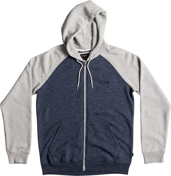 Куртка муж Quiksilver, цвет: светло-серый, темно-синий. EQYFT03429-BYJ6. Размер M (48)EQYFT03429-BYJ6