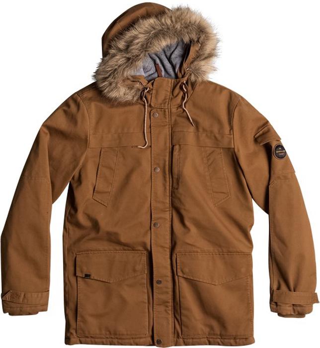 Куртка муж Quiksilver, цвет: светло-коричневый, бронзовый. EQYJK03352-CPP0. Размер XL (52)EQYJK03352-CPP0