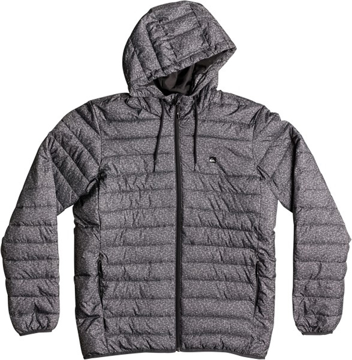 Куртка муж Quiksilver, цвет: темно-серый, серый, серебристый. EQYJK03234-KYH6. Размер XXL (54)EQYJK03234-KYH6Мужская куртка Quiksilver Everydayscaly M Jckt выполнена из 100% полиэстера с синтепоновым утеплителем. Модель с воротником-стойкой и несъемным капюшоном застегивается на молнию спереди. Капюшон дополнен утягивающим шнурком. Спереди куртка дополнена двумя врезными карманами на молниях.