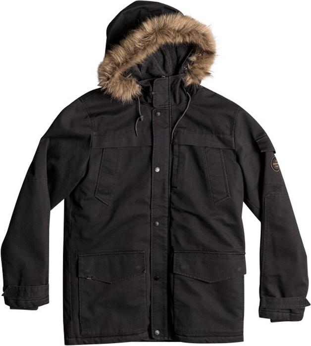 Куртка муж Quiksilver, цвет: темно-серый, черный, антрацитовый. EQYJK03352-KTA0. Размер XXL (54)EQYJK03352-KTA0