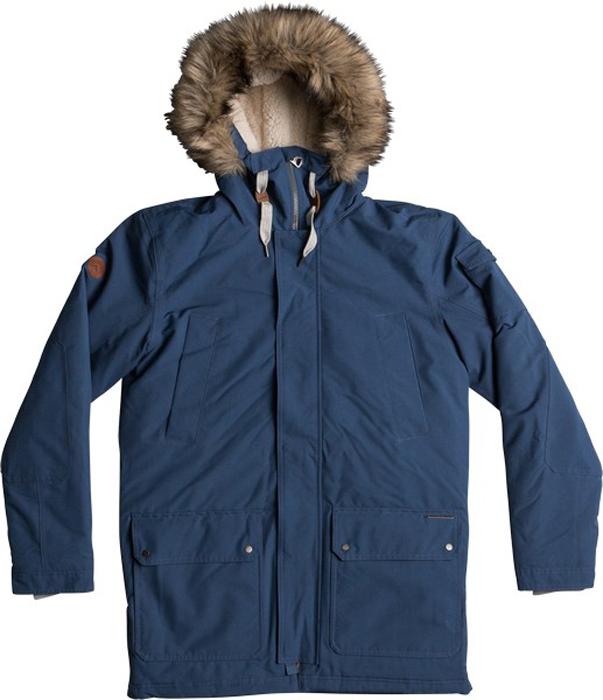 Куртка муж Quiksilver, цвет: темно-синий, серо-голубой. EQYJK03332-BRQ0. Размер L (50)EQYJK03332-BRQ0