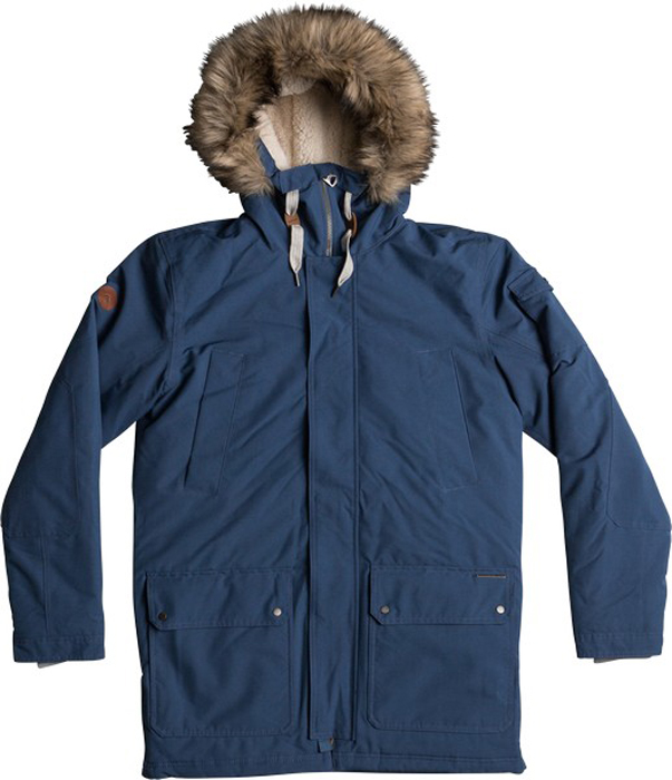 Куртка муж Quiksilver, цвет: темно-синий, серо-голубой. EQYJK03332-BRQ0. Размер XL (52)EQYJK03332-BRQ0