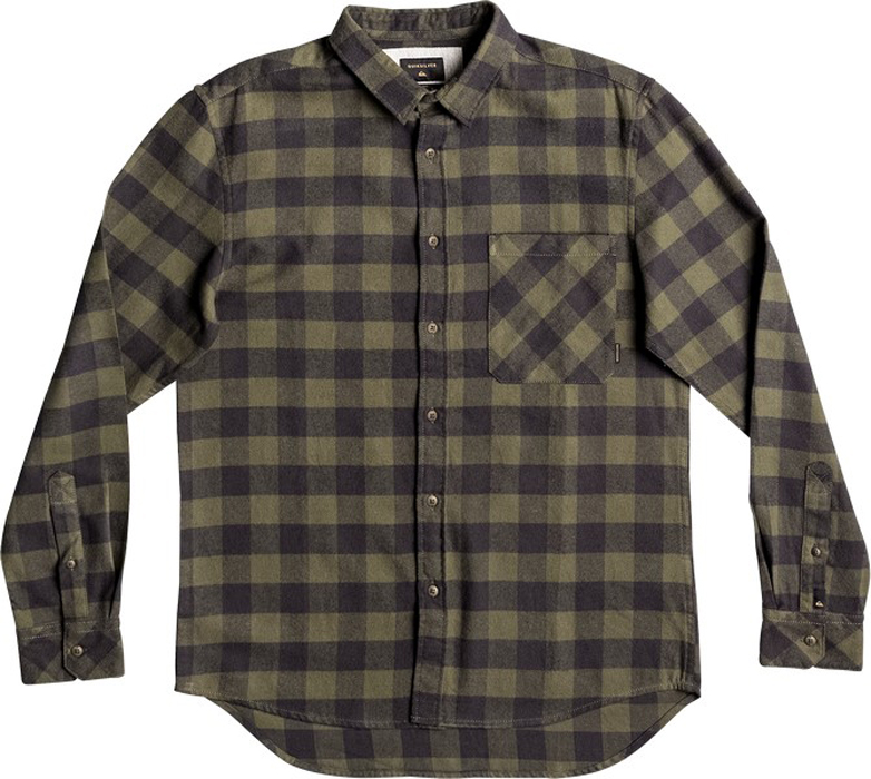 Рубашка муж Quiksilver, цвет: темно-зеленый, антрацитовый, оливковый. EQYWT03573-GSQ1. Размер XXL (54)EQYWT03573-GSQ1