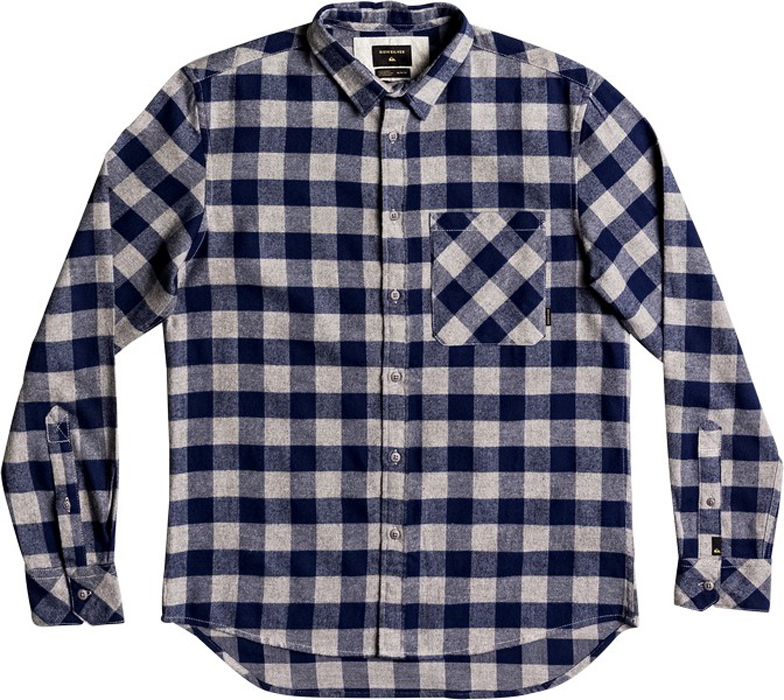 Рубашка муж Quiksilver, цвет: темно-синий, светло-серый, светло-бежевый. EQYWT03573-BTE1. Размер XL (52)EQYWT03573-BTE1