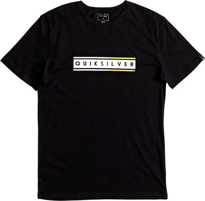 Футболка муж Quiksilver, цвет: черный. EQYZT04529-KVJ0. Размер L (50)EQYZT04529-KVJ0