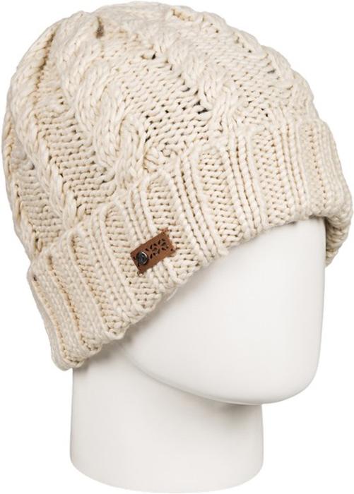 Шапка женская Roxy, цвет: светло-бежевый. ERJHA03295-TEE0. Размер универсальныйERJHA03295-TEE0Стильная женская шапка дополнит ваш наряд и не позволит вам замерзнуть в холодное время года. Шапка крупной вязки выполнена из акрила, что позволяет ей великолепно сохранять тепло и обеспечивает высокую эластичность и удобство посадки.Шапка оформлена отворотом и объемными вязаными узорами.Такая шапка станет модным и стильным дополнением вашего зимнего гардероба. Она согреет вас и позволит подчеркнуть свою индивидуальность!