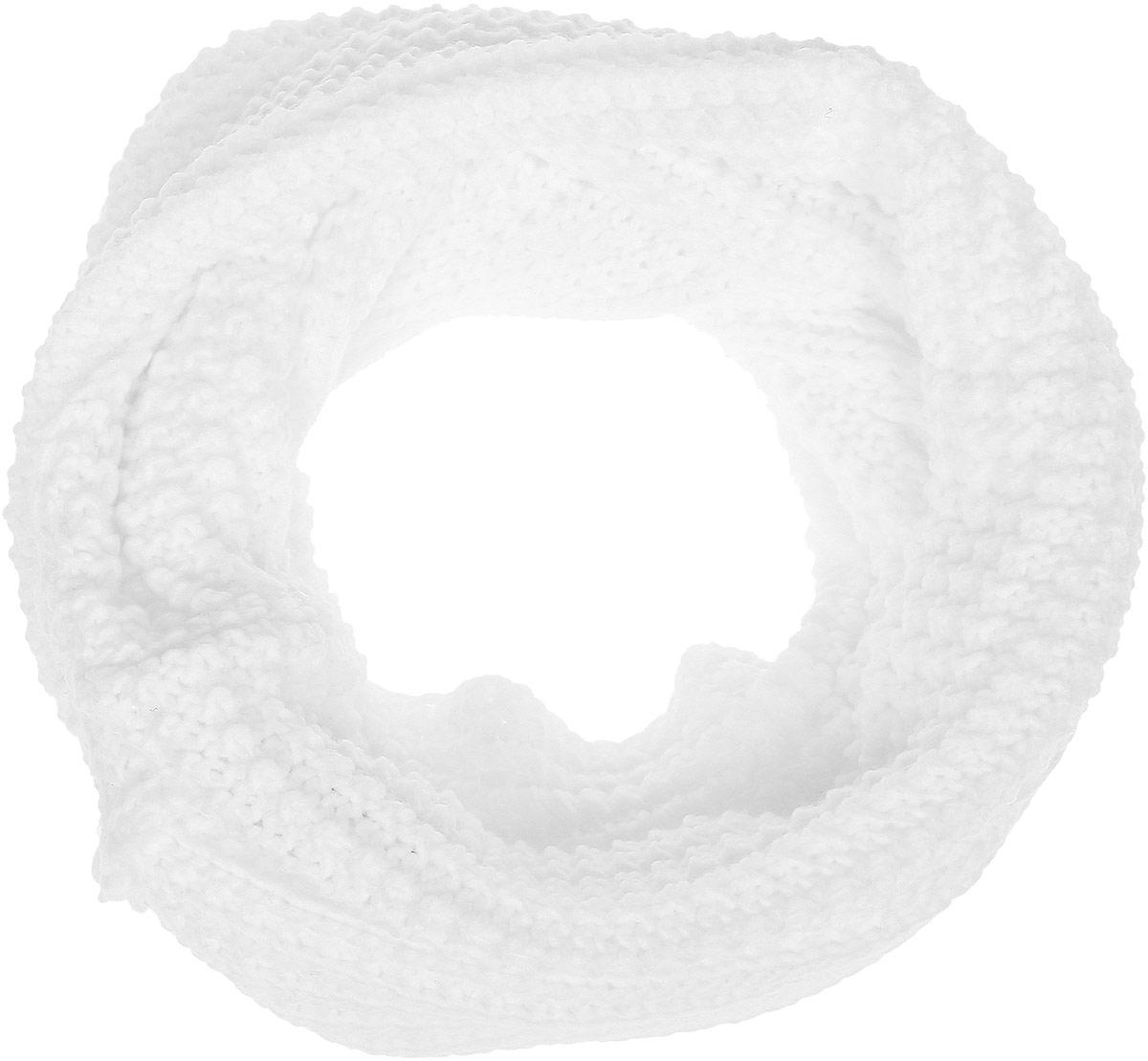 Шарф для девочки PlayToday, цвет: белый. 372139. Размер 65 х 22 см372139