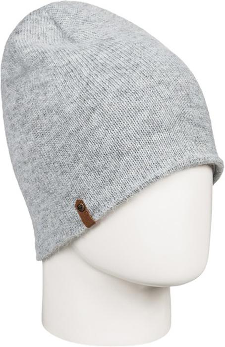Шапка жен Roxy, цвет: светло-серый, серый, серый меланж. ERJHA03277-SGRH. Размер универсальныйERJHA03277-SGRH