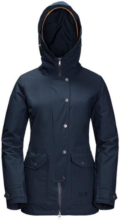 Куртка женская Jack Wolfskin Devon Island, цвет: темно-синий. 1109321-1910. Размер XS (42)