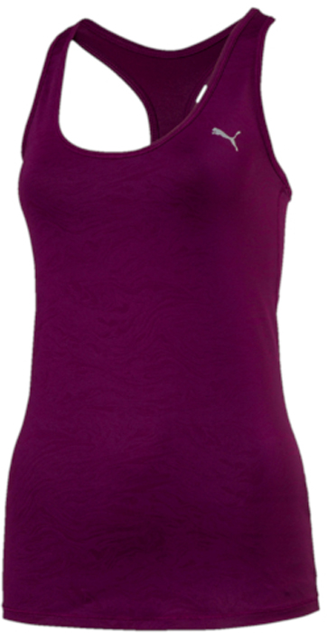 Майка женская Puma Essential Layer Tank-graphic, цвет: темно-фиолетовый. 51513512. Размер M (44/46)51513512