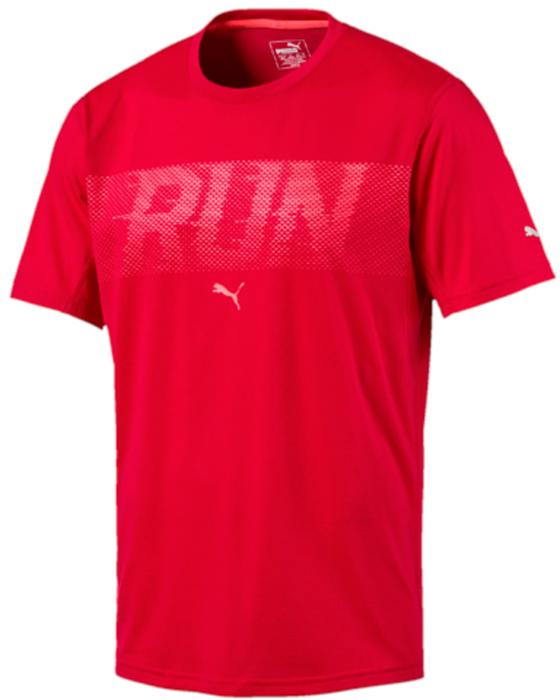 Футболка мужская Puma Run S/S Tee, цвет: красный. 51555503. Размер L (48/50)51555503Легкая футболка от Puma изготовлена из мягкого, приятного на ощупь материала, отлично пропускающего воздух, быстро впитывающего и испаряющего влагу. Она позволит оставаться сухим во время интенсивных тренировок, чувствовать себя комфортно и сделать занятия спортом более эффективными. Плоские швы предотвращают натирание и раздражение кожи. Светоотражающие элементы для улучшения видимости.
