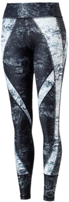 Тайтсы женские Puma Explosive Tight, цвет: серый. 51570801. Размер M (44/46)51570801Шикарные длинные спортивные обтягивающие брюки Explosive Tight превращают любую тренировку в удовольствие. Помимо привлекательного внешнего облика в дизайне использованы многочисленные технологические новинки. Модель изготовлена с использованием высокофункциональной технологии DryCell, которая отводит влагу, поддерживает тело сухим и гарантирует комфорт во время активных тренировок и занятий спортом. Пояс изготовлен из основного материала изделия с вставками из очень эластичного сетчатого материала для отличной посадки по фигуре и формирования красивого силуэта. Изделие декорировано логотипом DryCell, нанесенным методом термопечати на пояс. Изделие декорировано логотипом Puma, нанесенным методом термопечати на левую штанину. Также имеются вставки из материала с модным в сезоне графическим рисунком.