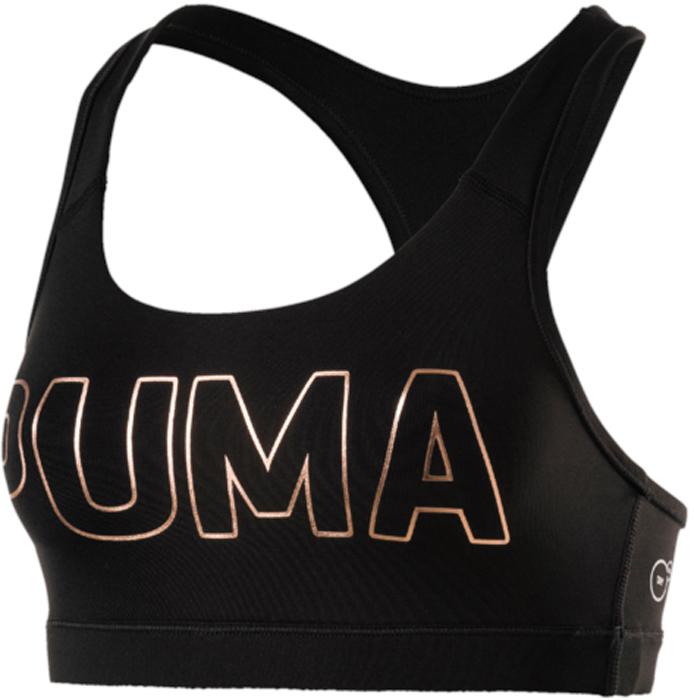 Топ-бра для фитнеса Puma PWRShape Forever - Logo, цвет: черный. 51599102. Размер XL (48/50)51599102Топ-бра PWRShape Forever - Logo создан для ежедневных занятий спортом. Этот топ предоставит необходимую поддержку при любой нагрузке. Высокотехнологичный материал DryCell отводит излишнюю влагу от тела и сохраняет сухость и свежесть в течение всей тренировки. Стабилизирующие лямки поддерживают грудь. Плотная эластичная лента внизу изделия для дополнительной поддержки. Гладкая спинка обеспечивает свободу движений.