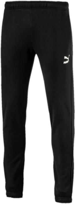 Брюки спортивные мужские Puma Archive Logo Sweat Pants, цвет: черный. 57331501. Размер XL (50/52)57331501Модель декорирована набивным логотипом винтажной коллекции Puma, выполненного сочетанием пигментной печати и печати напылением, а также тканым ярлыком с фирменной символикой у пояса. Пояс из эластичного материала снабжен затягивающимся шнуром, манжеты также отделаны эластичным материалом. Карман в боковом шве удобен, вместителен и снабжен закрепками. Изделие имеет комфортную стандартную посадку.