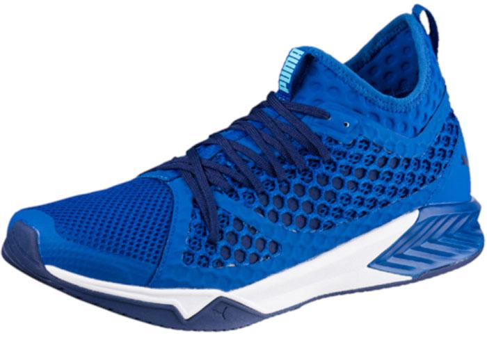 Кроссовки для фитнеса муж Puma Ignite Xt Netfit, цвет: голубой. 19005702. Размер 12 (46)19005702Эта модель создана для современного атлета, отличается универсальностью и позволяет выкладываться на все 100% на тренировках самой высокой интенсивности, включая кросс-фит. Отличным усовершенствованием популярной модели в этом сезоне стала революционная система шнуровки NETFIT, позволяющая шнуровать обувь так, как идеально подходит именно вам. Сверхсовременные материалы и технологии дополняют смелый дизайн модели IGNITE NETFIT XT, выводя эту эксклюзивную спортивную обувь на новый уровень.