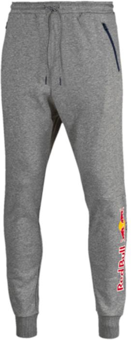 Брюки спортивные мужские Puma RBR Sweat Pants, цвет: серый. 57344202. Размер L (48/50)57344202Эти новые фирменные спортивные брюки RBR Sweat Pants предназначены для настоящих энтузиастов автоспорта и фанатов гоночной команды Ред Булл. Логотип RBR нанесен методом термопечати на нижнюю часть штанин. Также модель декорирована набивным логотипом Puma. Боковые карманы на молнии обеспечат надежное хранение ваших вещей. Пояс снабжен затягивающимся шнуром для лучшей посадки по фигуре. Низ штанин снабжен манжетами из кругловязаного трикотажа в рубчик.