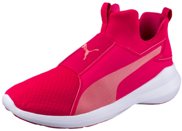 Кроссовки жен Puma Rebel Mid Wns, цвет: малиновый. 36453905. Размер 5 (37)36453905Современная обувь Rebel Mid Wns в бескомпромиссном спортивном стиле разработана Puma специально для женщин и подходит как для интенсивных занятий спортом, так и для повседневной носки. Утолщённая подошва с вставками из вспененного этиленвинилацетата создает отличную амортизацию, чуть завышенный силуэт помогает не обращать внимания на капризы погоды, а фиксированная стелька и мягкий язык позволяют быстро и легко надевать и снимать эти кроссовки. Носок, усиленный накладками из искусственной кожи, надежно защищает пальцы. Динамизм и неповторимый стиль – вот основные характеристики модели, предназначенной для активных и спортивных девушек!