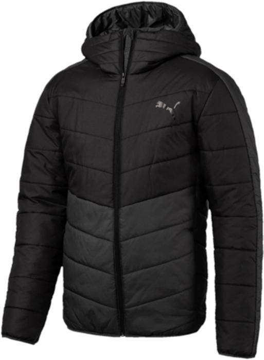 Куртка мужская Puma ESS warmCELL Padded Jacket, цвет: черный. 59236901. Размер S (44/46)59236901Модель декорирована логотипом и другой фирменной символикой Puma, нанесенными методом пигментной печати, Она изготовлена с использованием высокофункциональной технологии WarmCell, которая благодаря «дышащим» свойствам материала удерживает тепло и сохраняет оптимальную температуру вашего тела даже в холодную погоду. Благодаря особой конструкции капюшон может складываться и дополнять высокий, надежно защищающий подбородок и шею от холода воротник. Капюшон, манжеты и подол снабжены эластичными завязками. Классический покрой от Puma рукавов и плеча обеспечивает удобство сгибания и разгибания руки в локте и полную свободу движений. Боковые швы с нахлестом вперед обеспечивают дополнительное удобство. Боковые карманы на молнии функциональны и вместительны. Капюшон, манжеты и подол снабжены эластичными завязками. Имеется петля для вешалки. Изделие имеет удобную стандартную посадку.