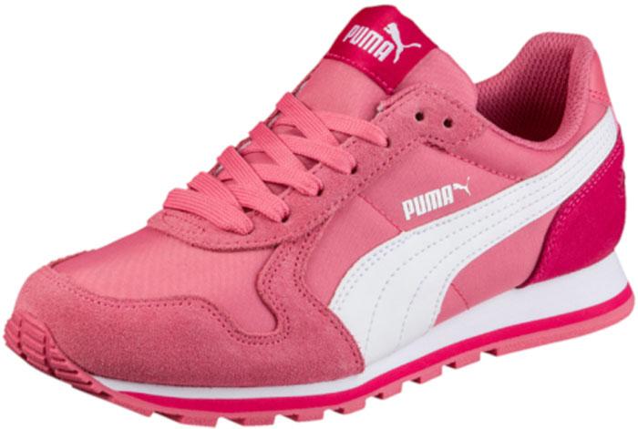 Кроссовки для девочки Puma ST Runner NL Jr, цвет: розовый. 35877020. Размер 3 (34,5)35877020Разработанные в лучших традициях PUMA, кроссовки серии ST Runner - идеальный вариант для прогулок и активного отдыха. Верхняя часть обуви из высококачественного нейлона с мягкими замшевыми вставками и накладками обеспечивает комфорт и прекрасную посадку по ноге. Модель ST Runner NL – это неповторимый дизайн, новое прочтение классической традиции и прекрасное дополнение к стильному повседневному гардеробу.