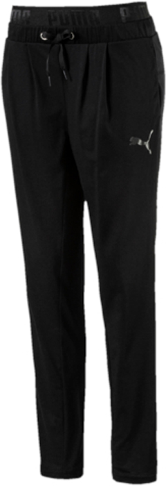 Брюки спортивные женские Puma Active ESS Bd Drapey Pants, цвет: черный. 59357701. Размер M (44/46)59357701Модель декорирована набивным логотипом PUMA с прорезиненными элементами и изготовлена с использованием высокофункциональной технологии dryCELL, которая отводит влагу, поддерживает тело сухим и гарантирует комфорт во время активных тренировок и занятий спортом.Пояс посажен на подкладку из эластичного материала с фирменной символикой, а также снабжен затягивающимися шнурами для лучшей посадки по фигуре. Карманы в боковых швах удобны и вместительны.Изделие имеет очень комфортный свободный покрой.