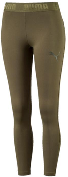 Леггинсы женские Puma Active ESS Banded Leggings, цвет: темно-зеленый. 59357814. Размер XS (40/42)59357814Модель декорирована набивным логотипом Puma с прорезиненными элементами и изготовлена с использованием высокофункциональной технологии DryCell, которая отводит влагу, поддерживает тело сухим и гарантирует комфорт во время активных тренировок и занятий спортом. Пояс посажен на подкладку из эластичного материала с фирменной символикой. Завышенный пояс подчеркивает все достоинства женской фигуры и обеспечивает комфорт во время тренировки. Фасон в обтяжку по фигуре очень элегантен.