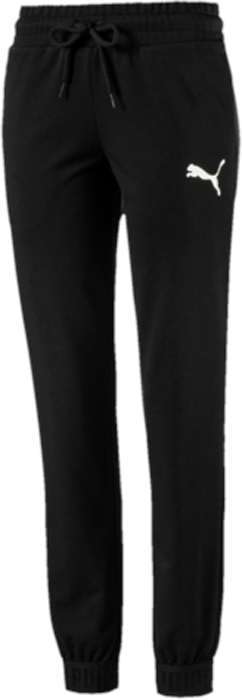 Брюки спортивные женские Puma Urban Sports Sweat Pants, цвет: черный. 59399201. Размер XXL (50/52)59399201Модель декорирована набивным логотипом PUMA с прорезиненными элементами и изготовлена с использованием высокофункциональной технологии dryCELL, которая отводит влагу, поддерживает тело сухим и гарантирует комфорт во время активных тренировок и занятий спортом. Пояс выполнен из основного материала изделия и снабжен затягивающимся шнуром. Манжеты отделаны эластичным трикотажем с фирменной символикой. Изделие имеет удобную стандартную посадку.