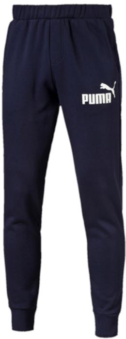 Брюки спортивные мужские Puma ESS No.1 Sweat Pants, Fl, Cl, цвет: темно-синий. 83826406. Размер XL (50/52)83826406Брюки Puma ESS No.1 Sweat Pants выполнены из толстовочного трикотажа с внутренней мягкой стороной. Модель декорирована прорезиненным логотипом Puma. Среди других отличительных особенностей изделия - пояс из его основного материала с продернутыми затягивающимися шнурами, карманы в швах, нашитая сверху задняя кокетка для лучшей посадки по фигуре, а также отделка манжет по низу штанин трикотажем в резинку.