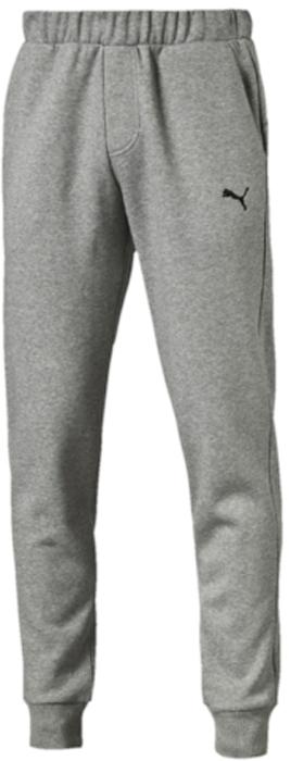 Брюки спортивные мужские Puma ESS Sweat Pants, FL, Cl., цвет: светло-серый. 83837803. Размер XL (50/52)83837803Спортивные брюки Puma ESS Sweat Pants, FL, cl. выполнены из плотного трикотажа с мягким внутренним слоем. Среди других отличительных особенностей изделия - пояс из его основного материала с продернутым в нем затягивающимся шнуром. Удобные карманы в швах, манжеты внизу штанин из трикотажа в рубчик, а также нашитая сверху задняя кокетка для лучшей посадки по фигуре. Модель декорирована вышитым логотипом PUMA.