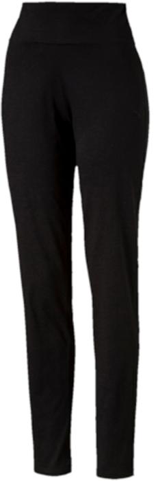 Брюки спортивные женские Puma ESS Jersey Pants W, цвет: черный. 83841901. Размер L (46/48)83841901Брюки декорированы вышитым логотипом PUMA и посажены на пояс из основного материала изделия. Брюки имеют удобную стандартную посадку.