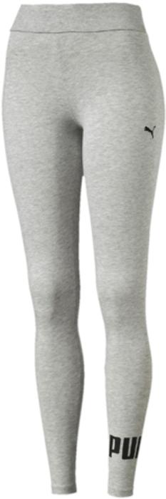Леггинсы женские Puma ESS No.1 Leggings, цвет: светло-серый, черный. 83842204. Размер S (42/44)83842204Леггинсы ESS No.1 Leggings W выполнены из хлопка с добавлением эластана. Благодаря приятной на ощупь ткани, тренироваться в них будет очень комфортно. Модель имеет фасон в обтяжку по фигуре. Пояс выполнен из основного материала изделия. Леггинсы декорированы прорезиненным логотипом PUMA, а также вышитой фирменной символикой PUMA.