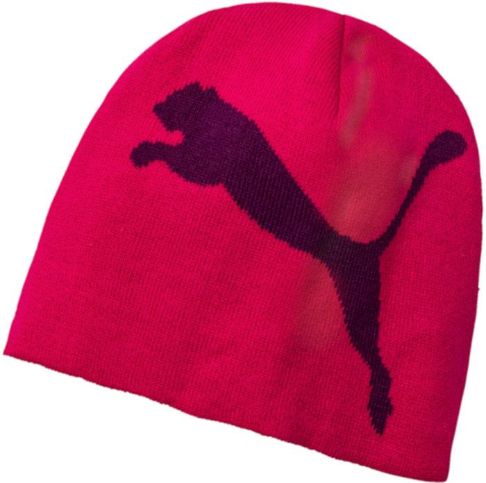 Шапка Puma Ess Big Cat Beanie, цвет: малиновый. 05292534. Размер универсальный05292534Двойная вязаная шапочка декорирована комбинированным логотипом с символикой PUMA, выполненным контрастными цветами методом жаккардового узора.Подходит на обхват головы 54-58 см.