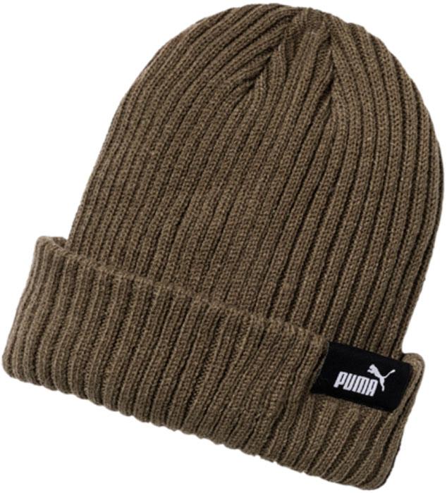 Шапка Puma Style Mid Fit Beanie, цвет: темно-зеленый. 02127604. Размер универсальный02127604Вязаная двуслойная шапка в резинку с отворотом удобно сидит на голове и декорирована тканым логотипом PUMA на отвороте.Подходит на обхват головы 54-58 см.