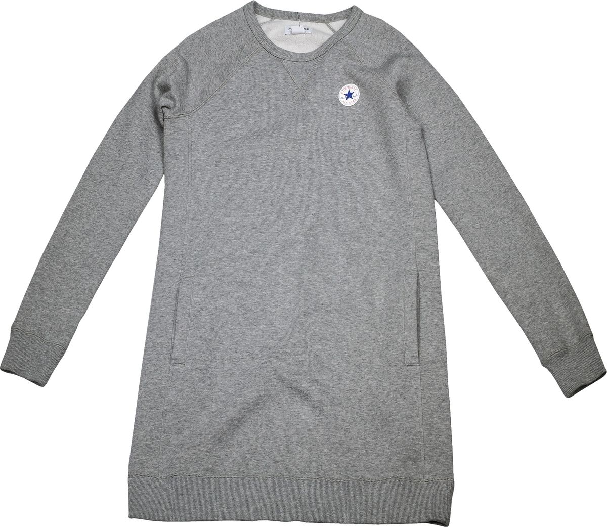 Платье женское Converse Core Sweatshirt Dress, цвет: серый. 10004545035. Размер L (48)10004545035